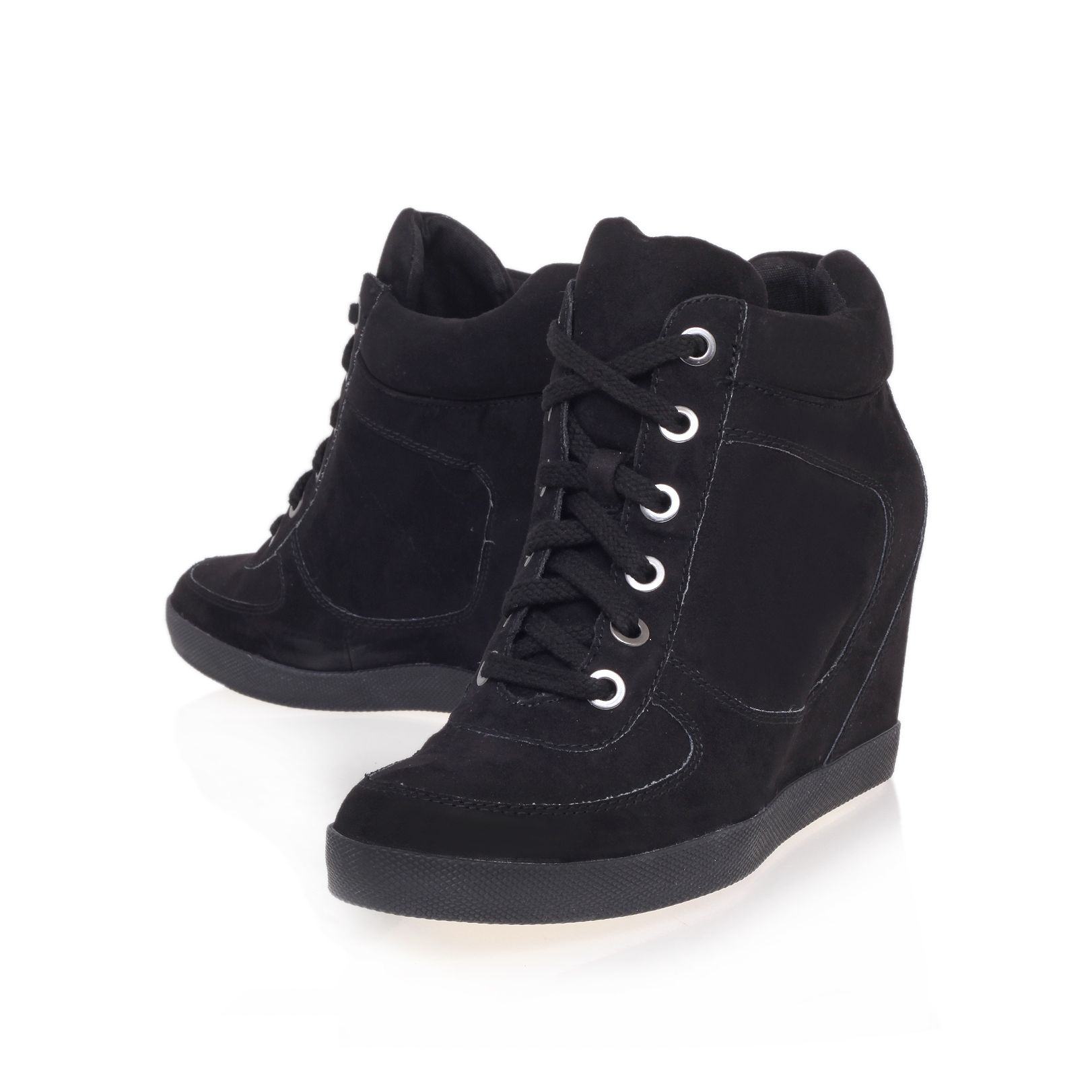 Lady lace up wedge trainer