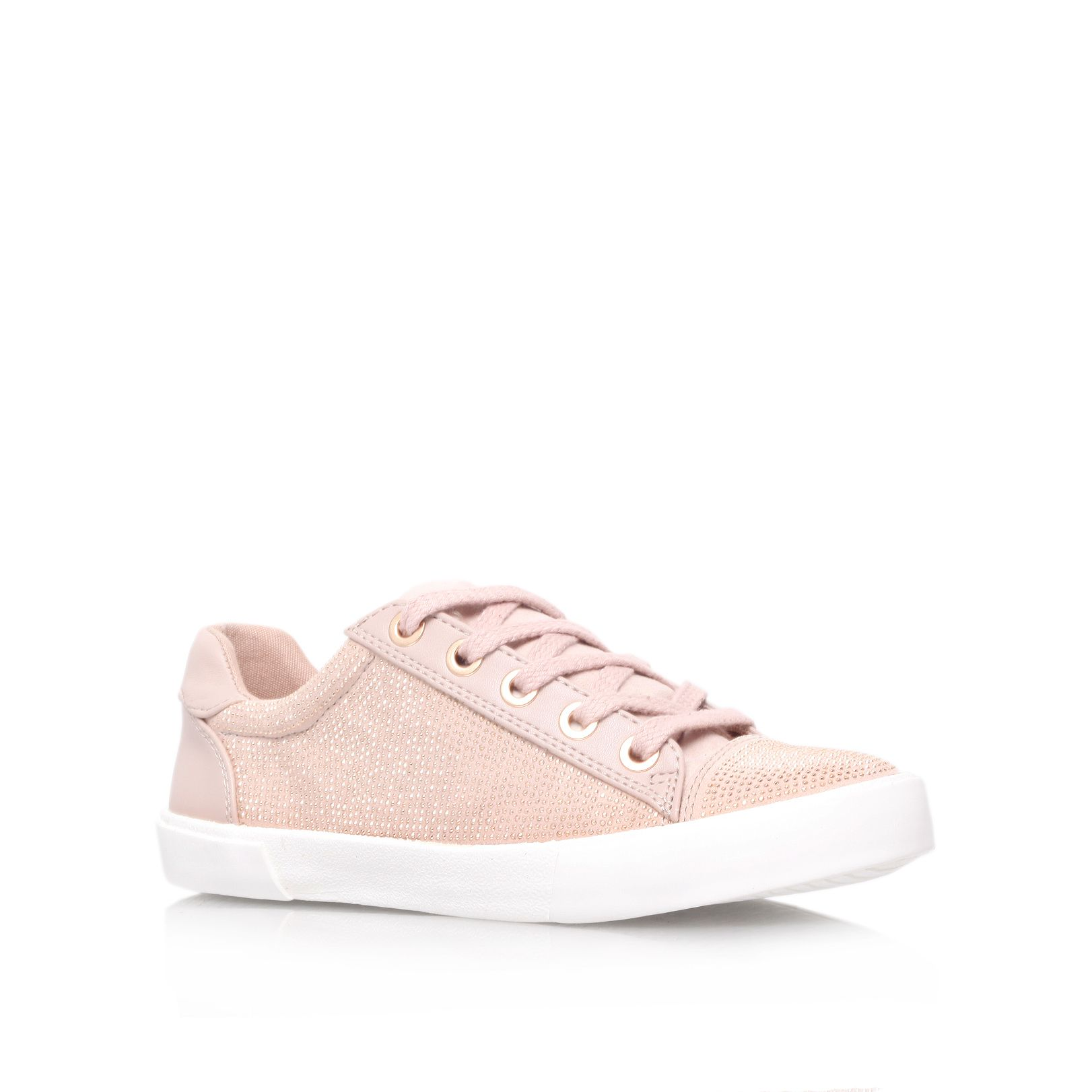 Lock flat low top trainers