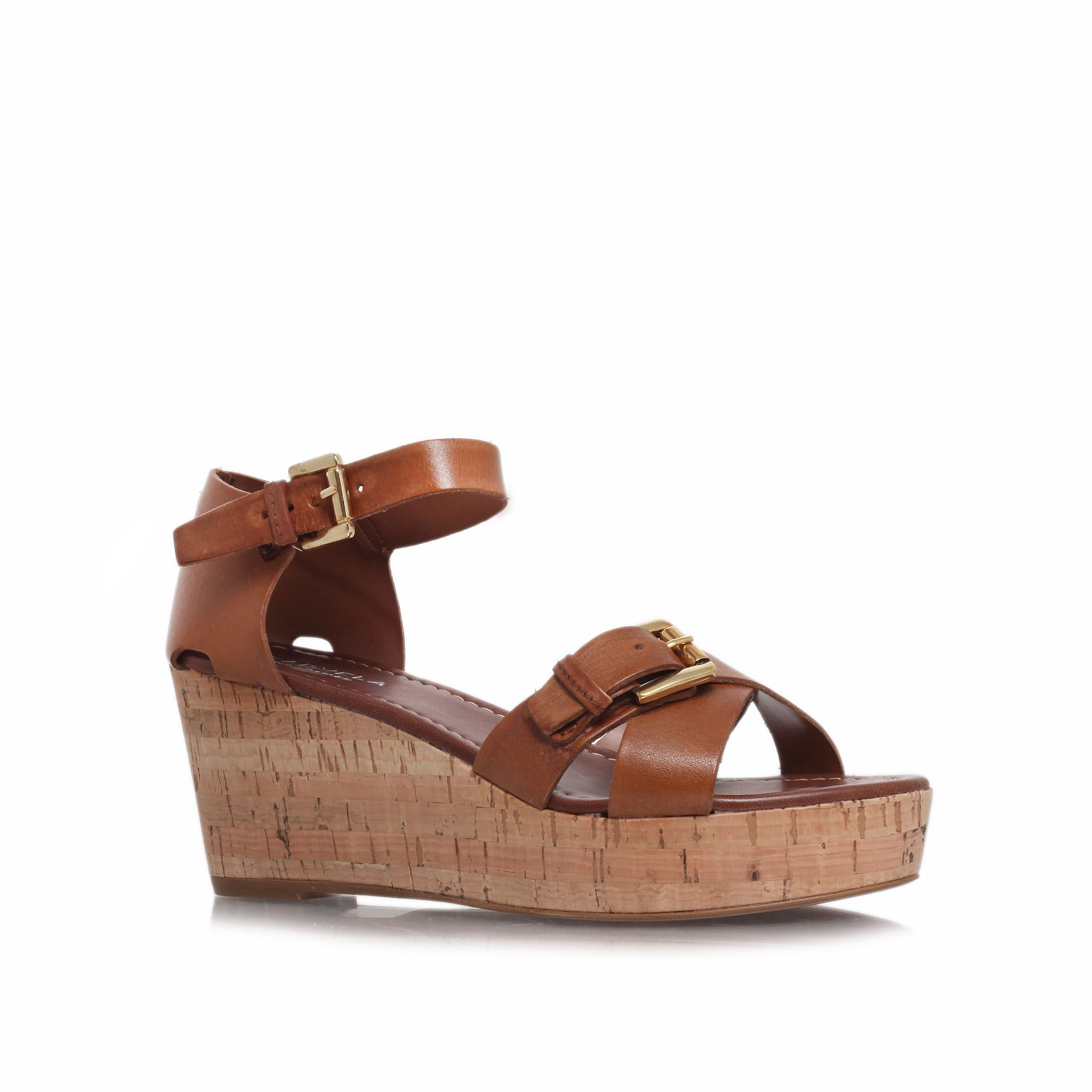 Knock mid heel wedge sandals