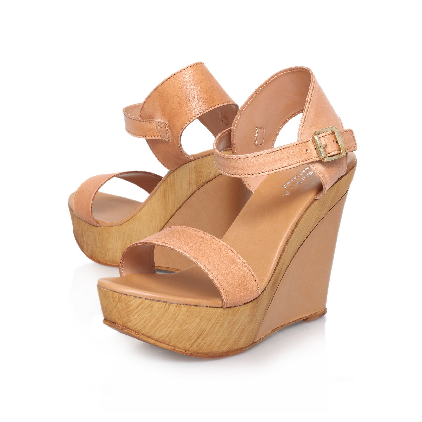 Knave high heel wedge sandals