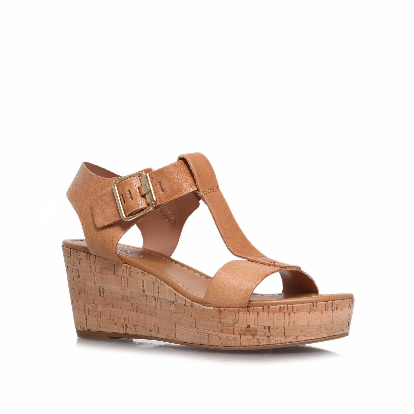 Known mid heel wedge sandals