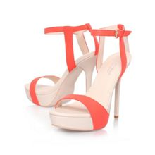Gown high heel platform sandals