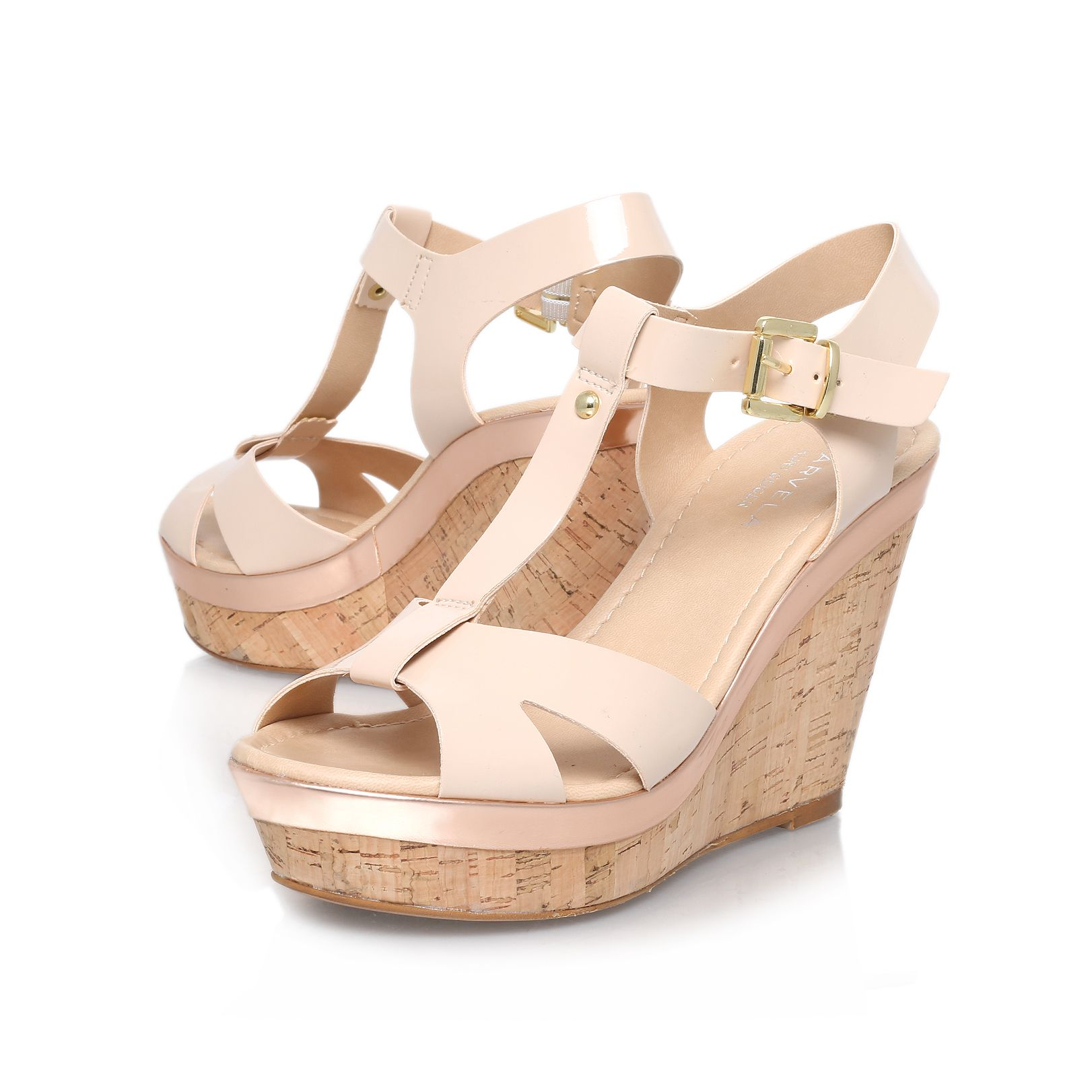Kabby high heel wedge sandals