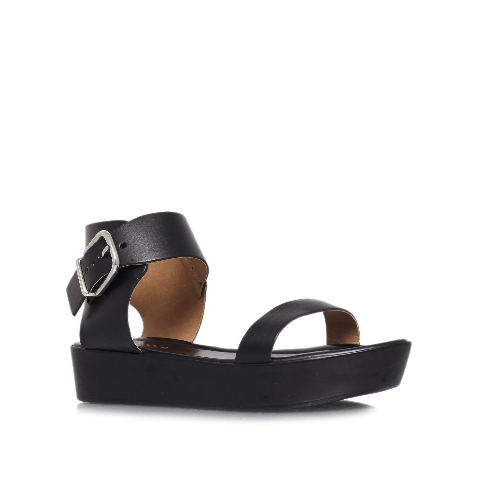 Komb low heel wedge sandals