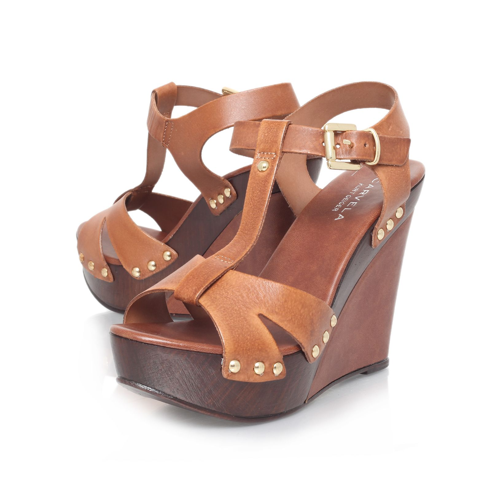 Katey high heel wedge sandals