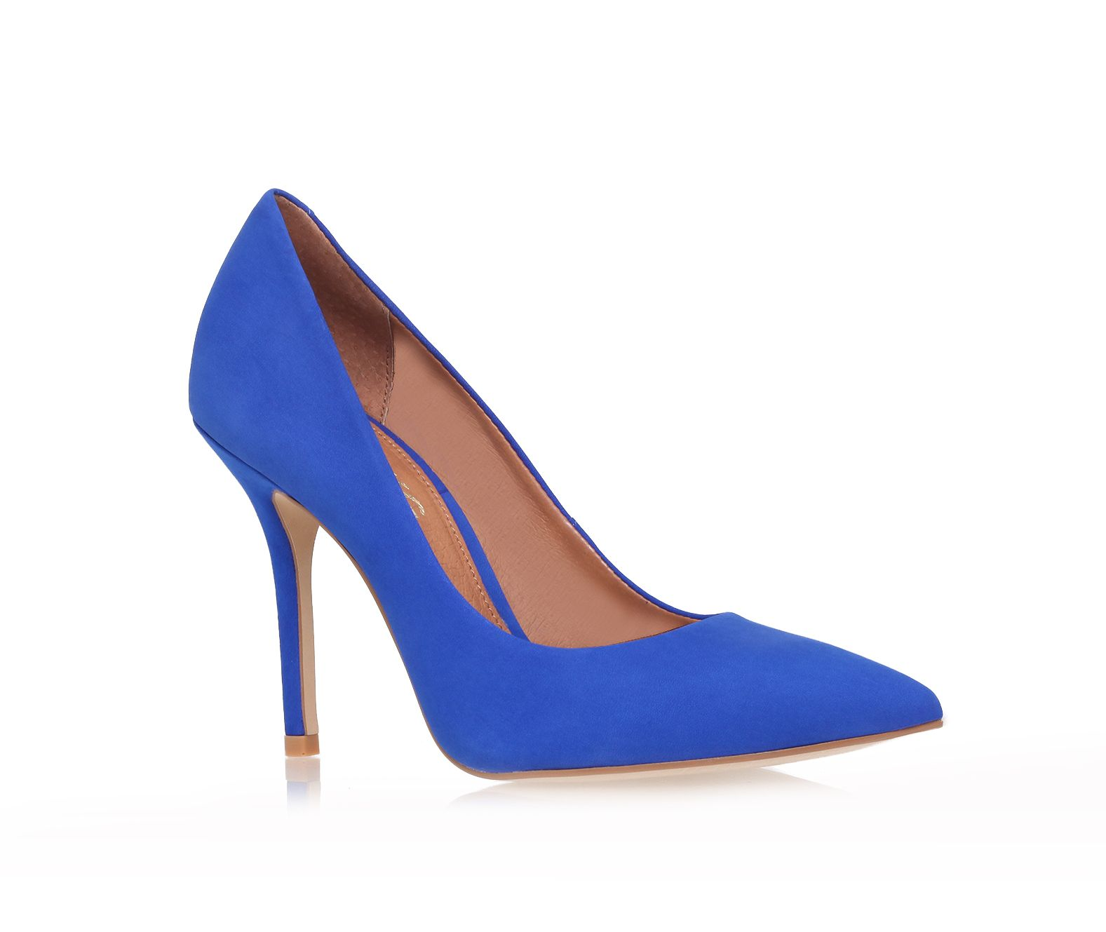 Anabela heeled court shoes