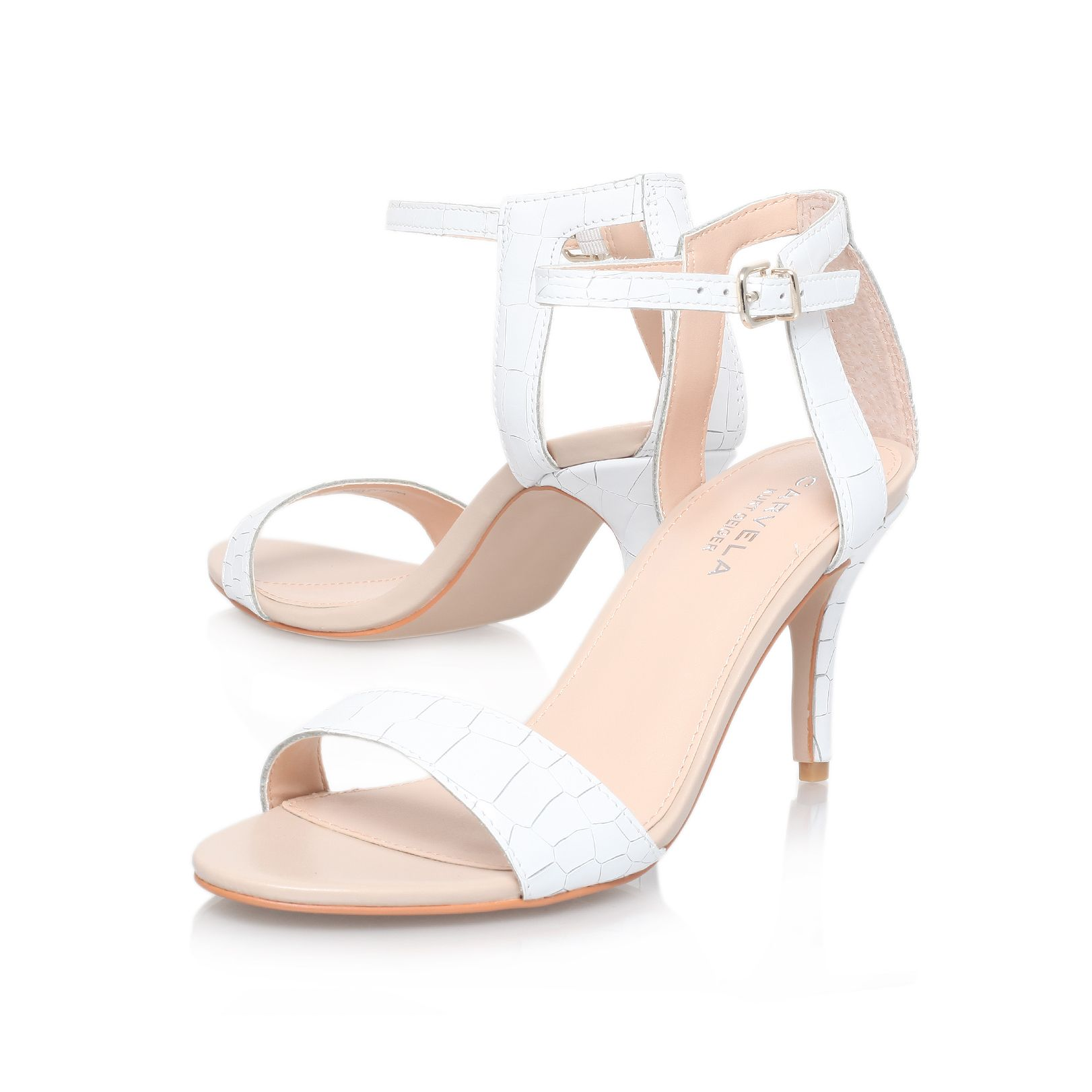 White Sandals With Heel