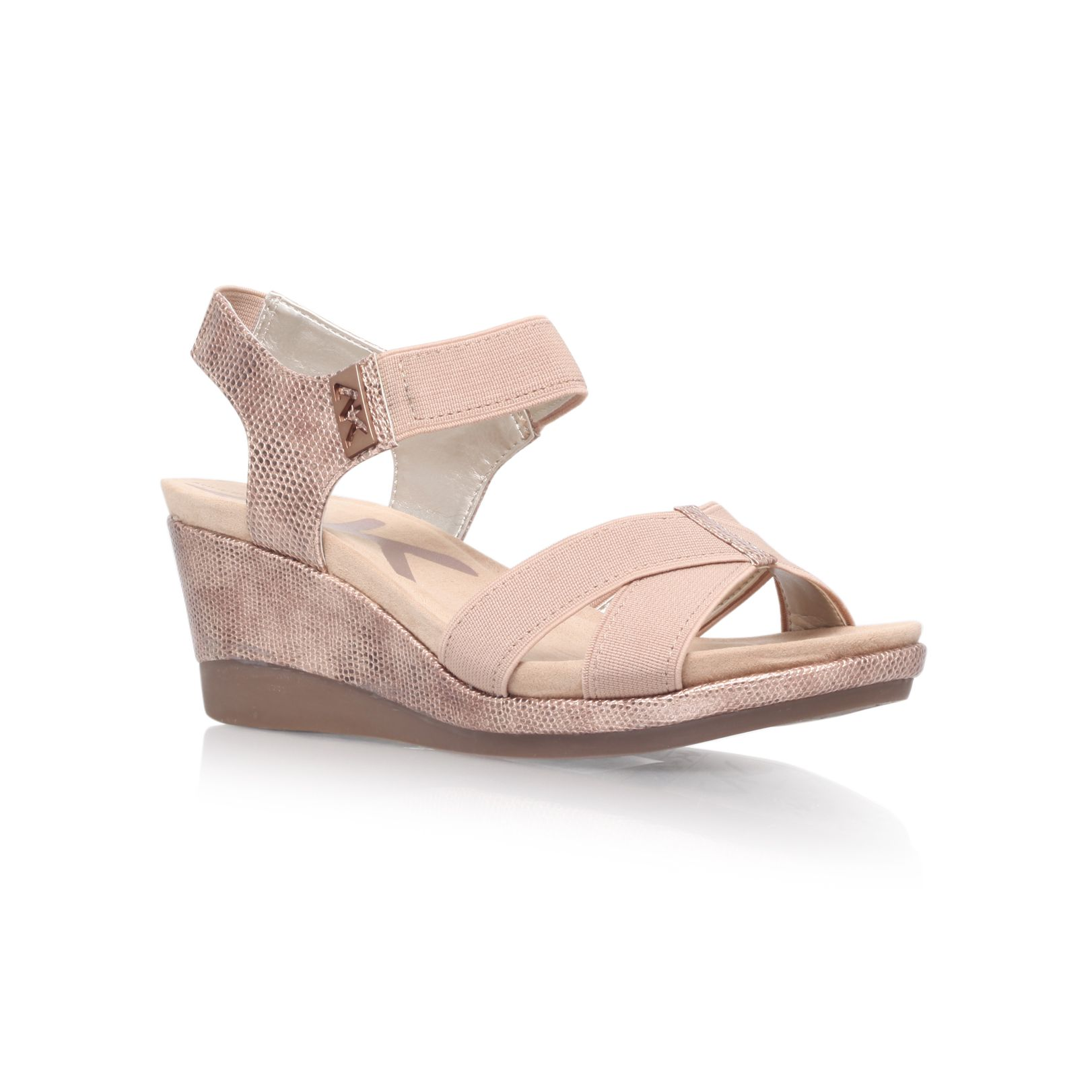 Pakuna2 mid heeled summer wedge