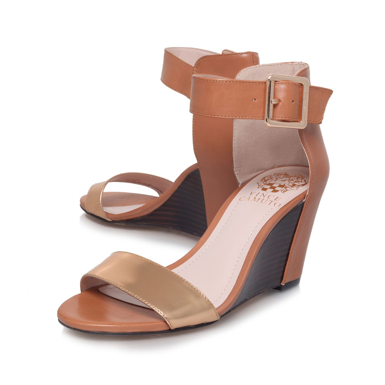 Luciah mid heel wedge sandals