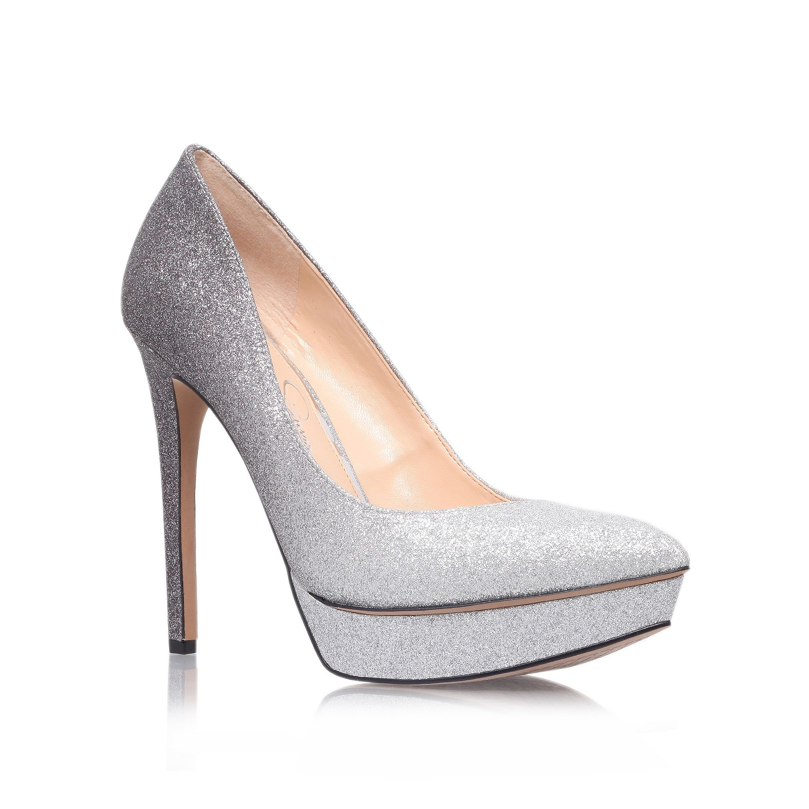 Venisse high heeled court shoe