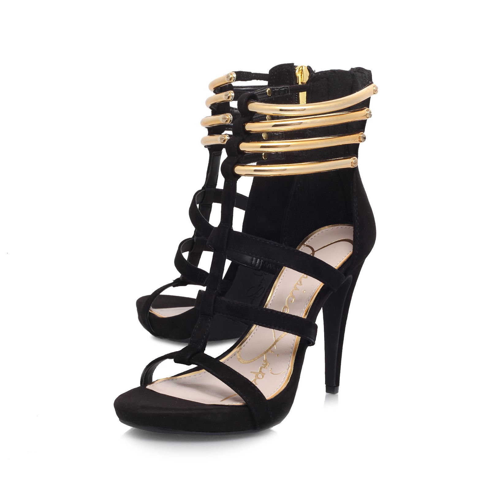 Cendini heeled court shoes