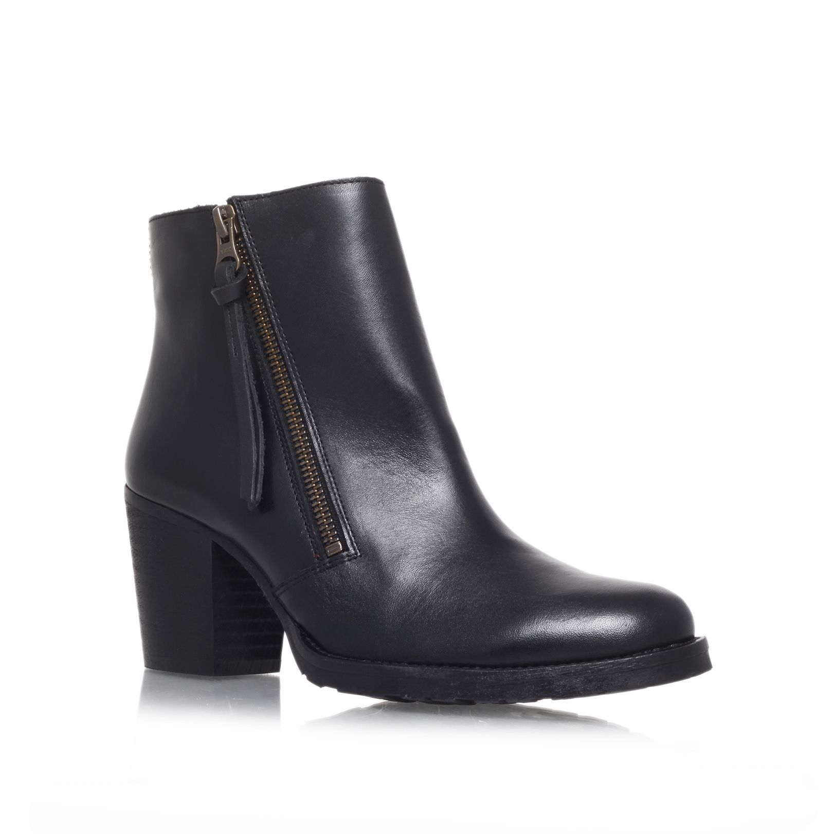 Sweep mid heel ankle boots
