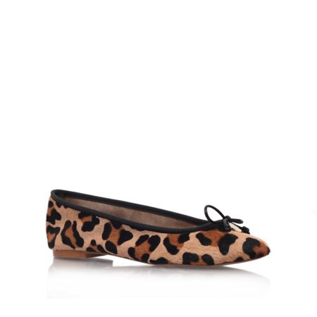 Kurt Geiger Lourdes leather ballet pumps