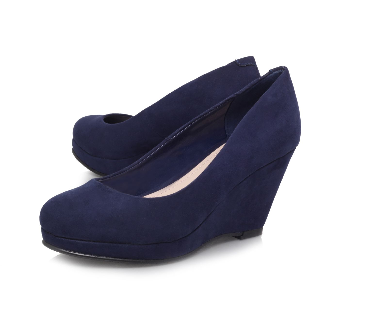 Candy round toe wedge court shoes