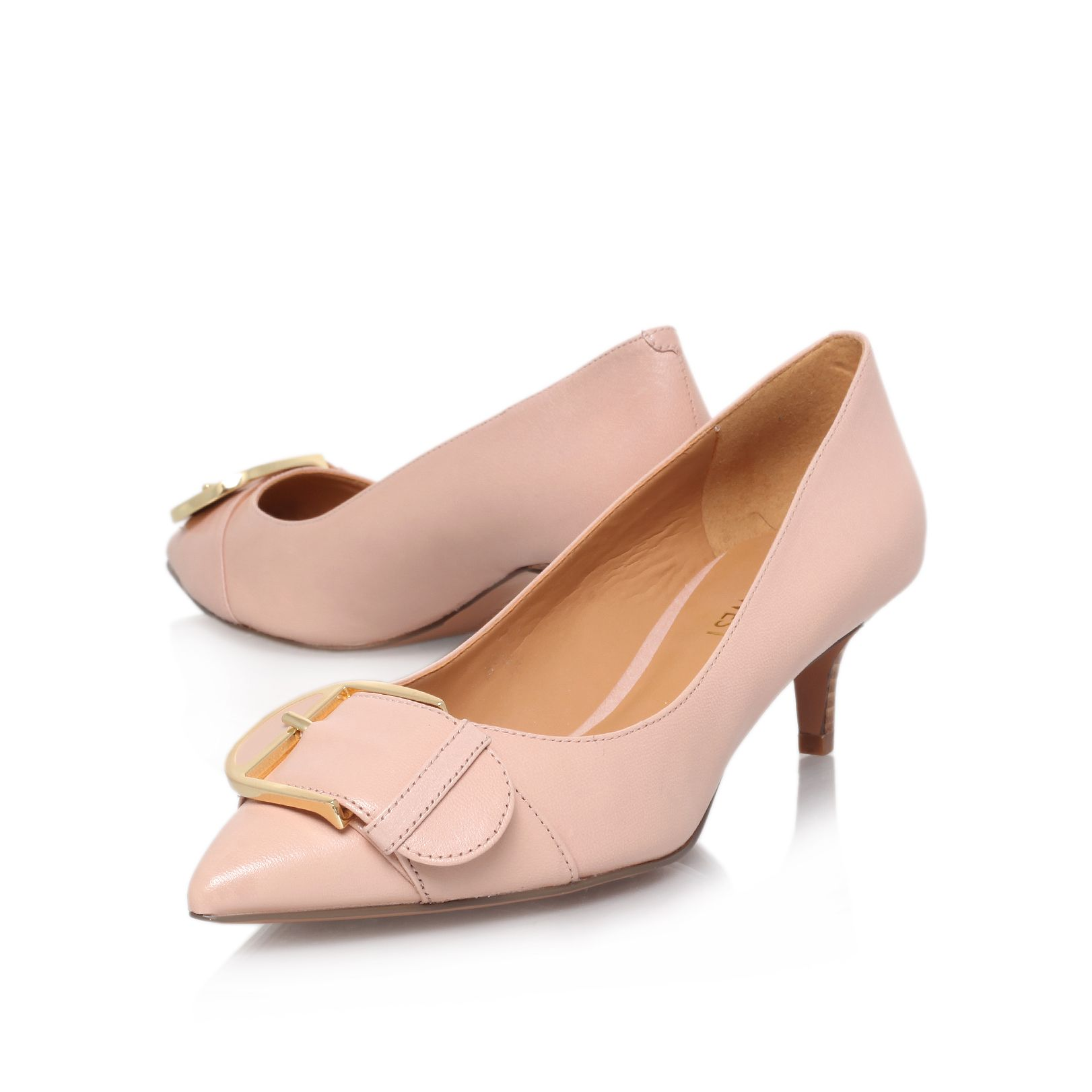 Paylette low heeled court shoes