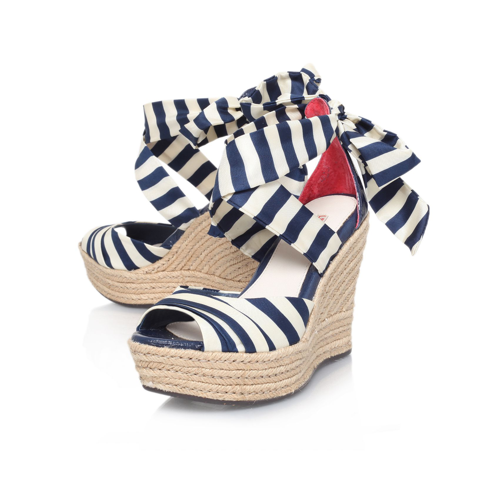 Lucianna stripe summer wedge