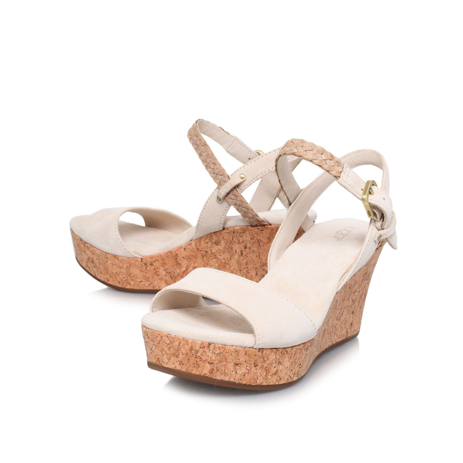 D`alessio mid heeled wedges