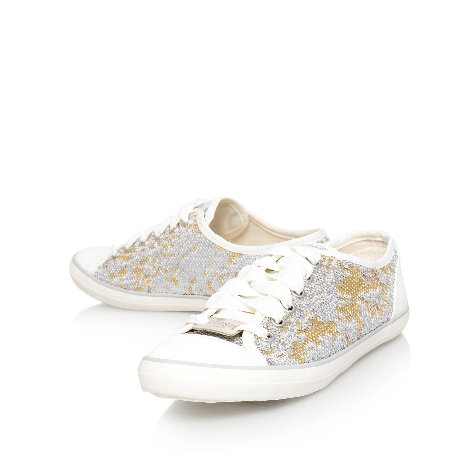 Betsy flat lace up trainers