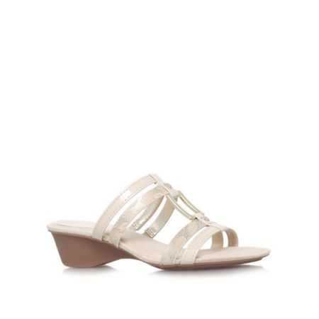 Olavio3 low wedged sandals