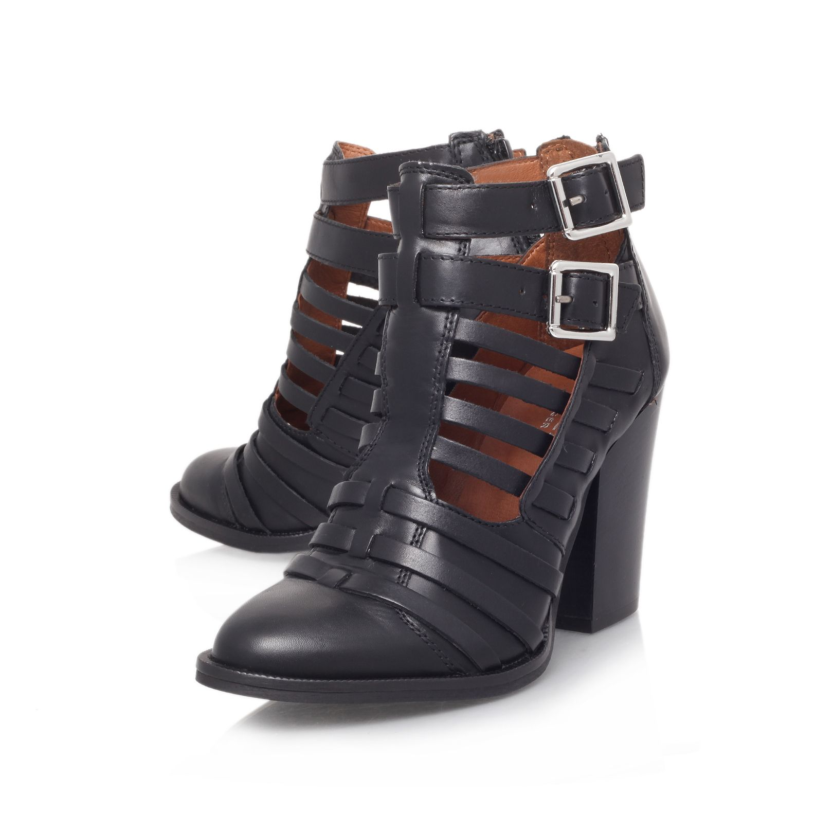 Silent high heel ankle boots