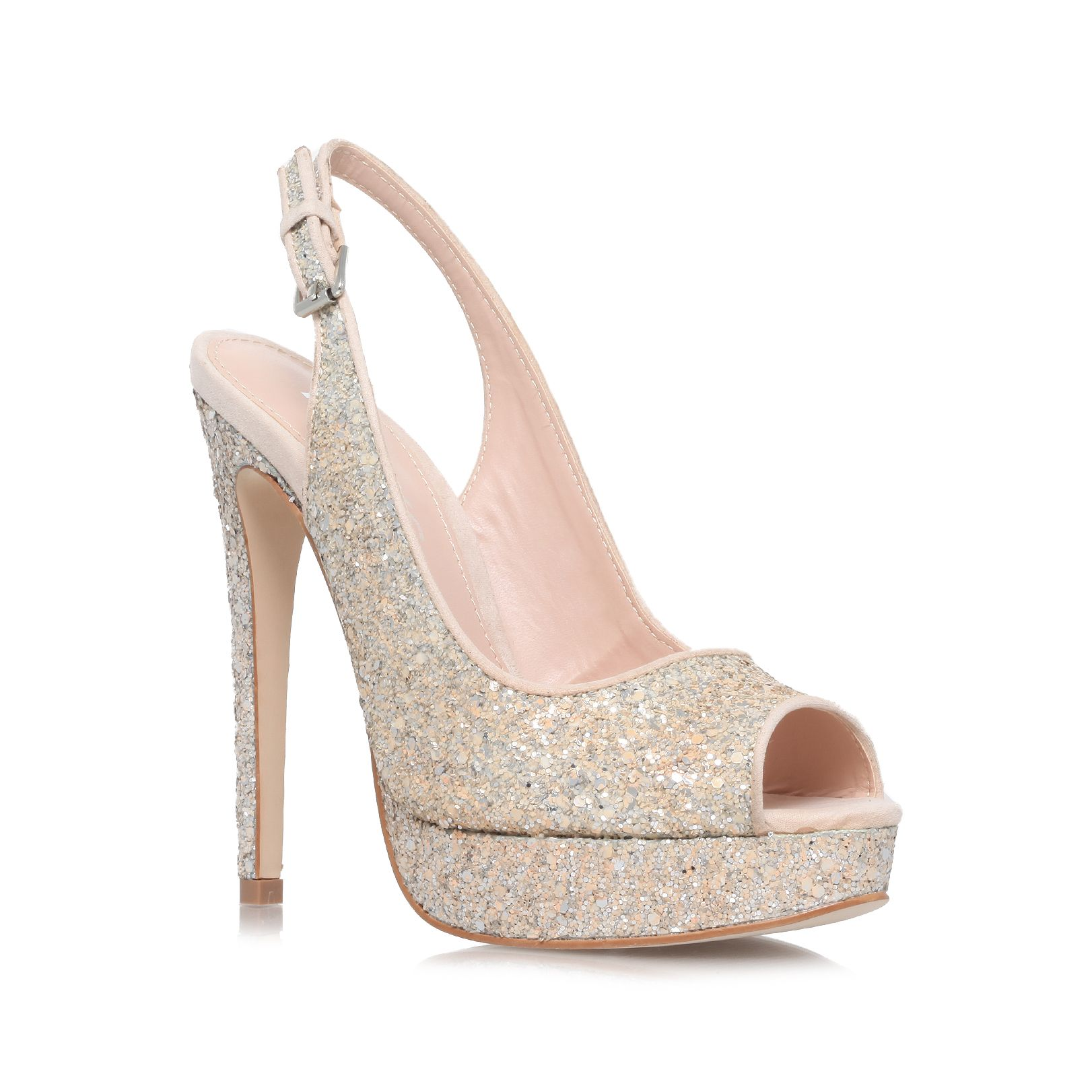 Esther high heel court shoes