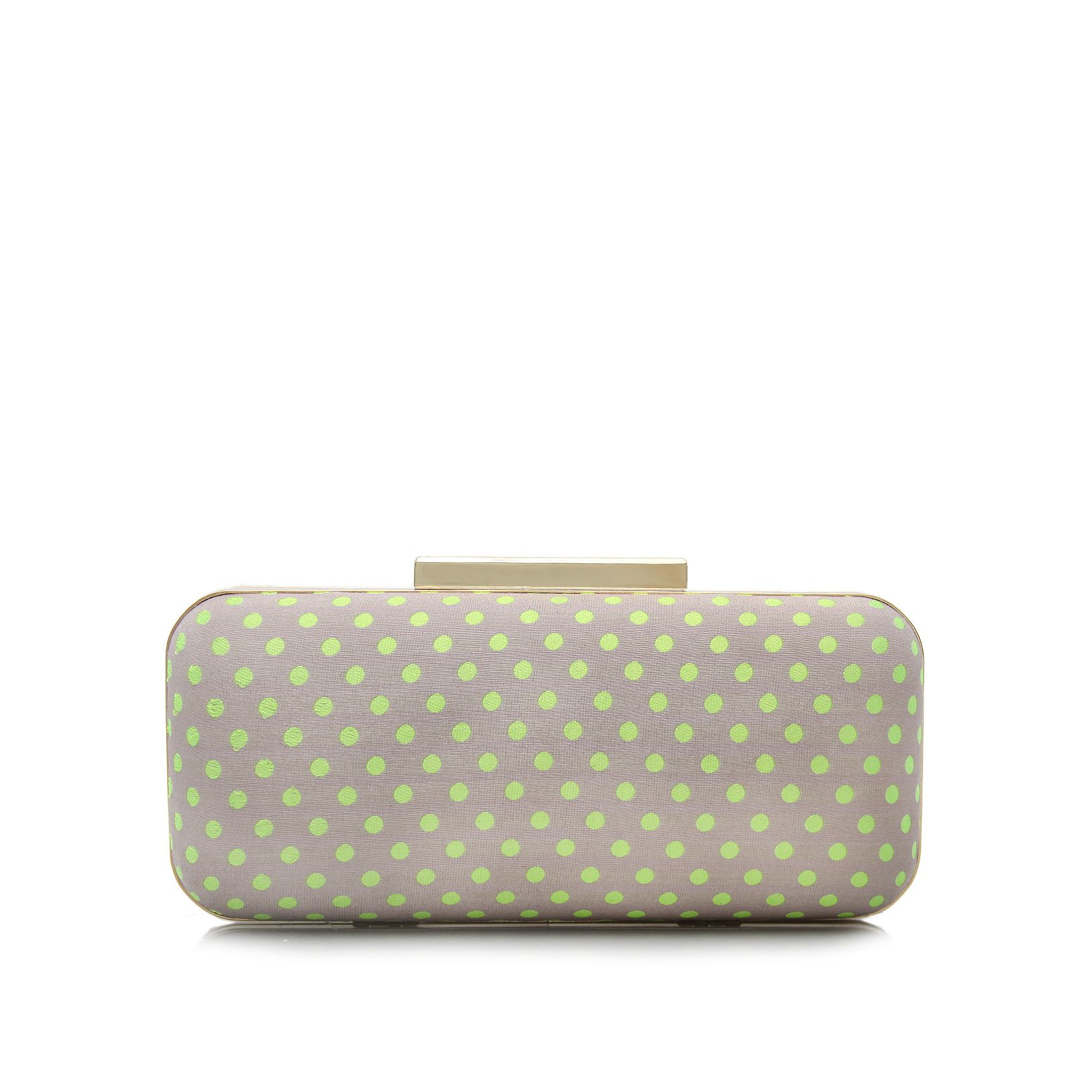 Bare polka dot clutch bag