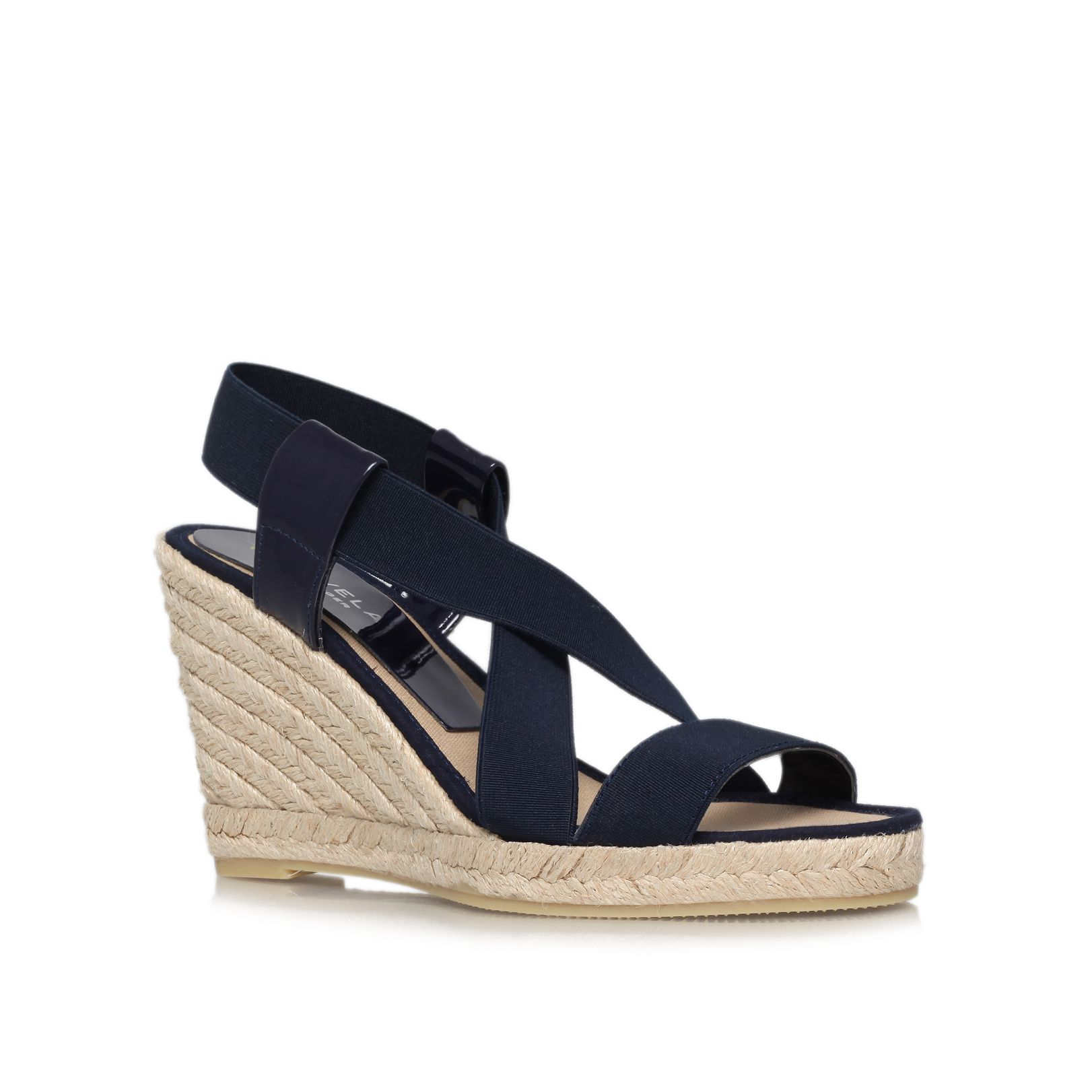Kot mid heel wedge sandals