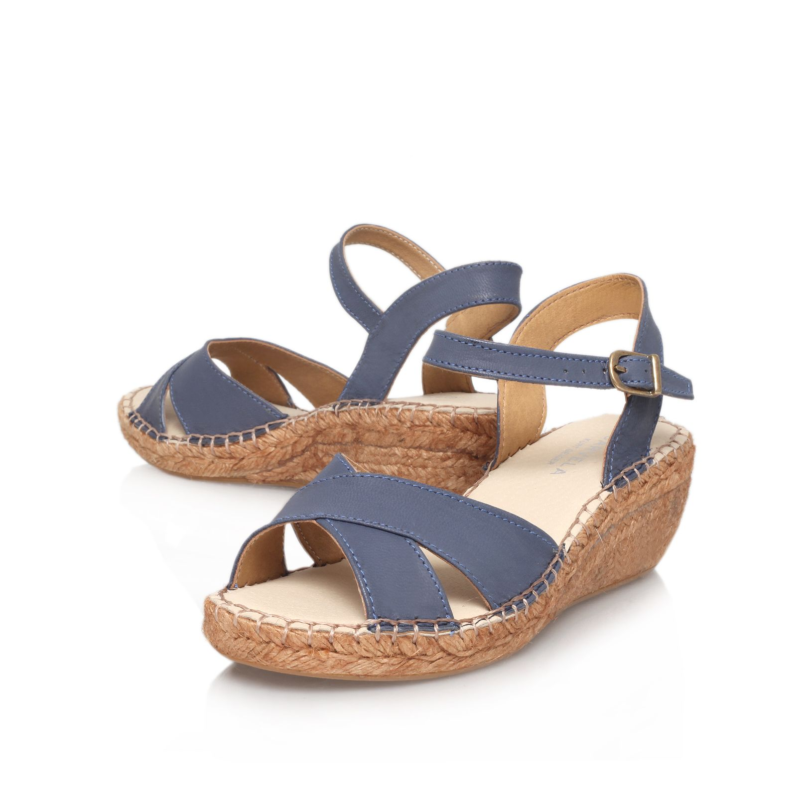 Kandy mid heel wedge sandals