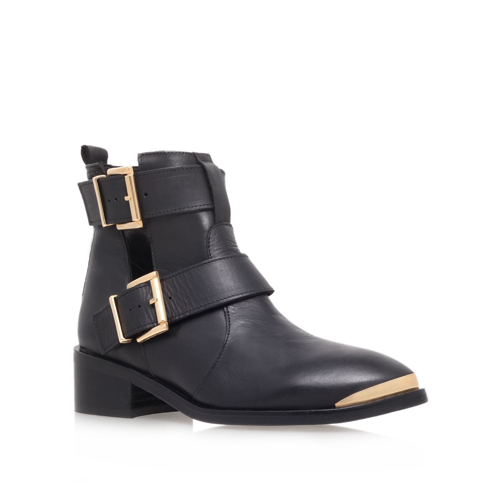 Saxon low heel ankle boots