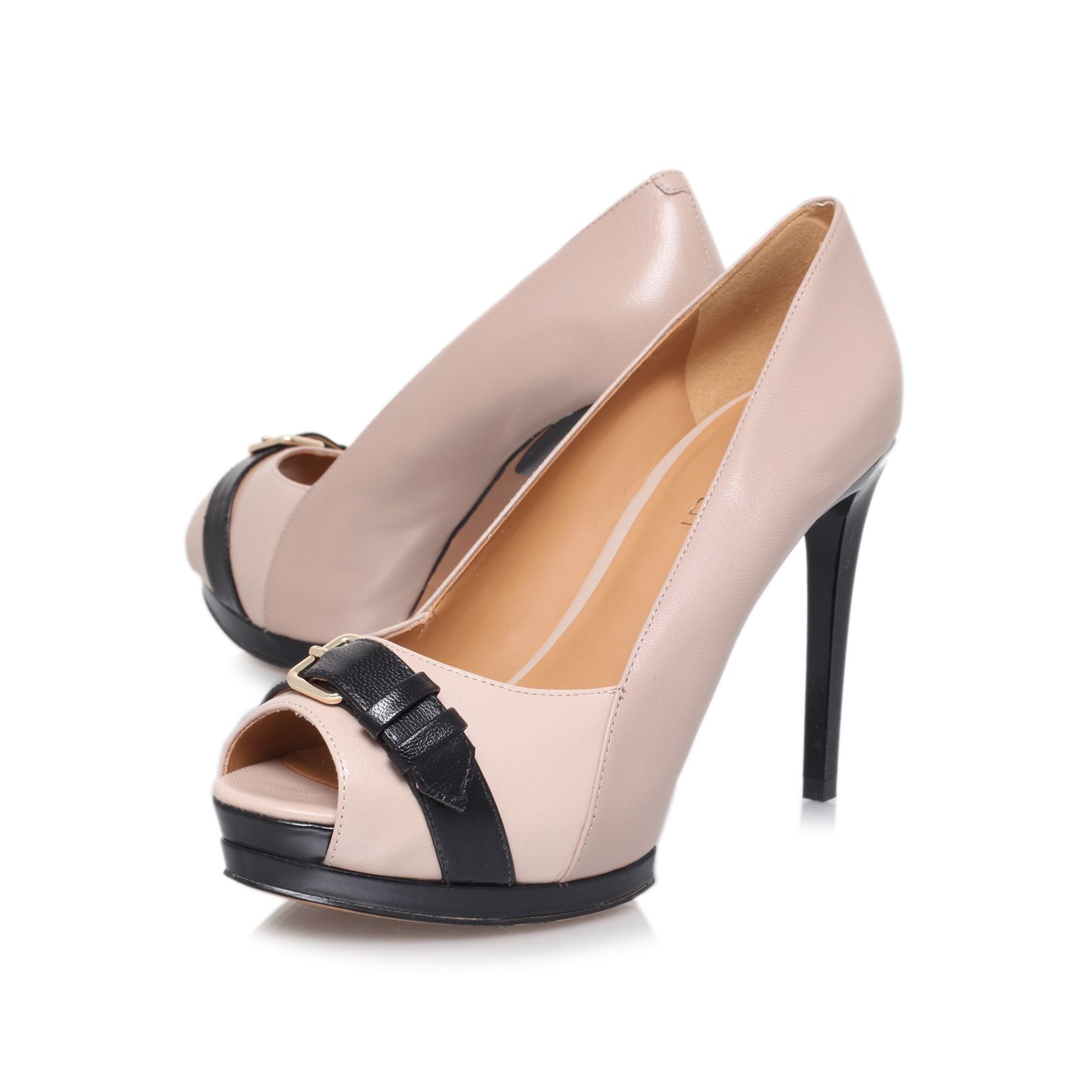 Diamonella high heeled court shoes