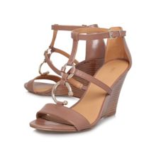 Mirabilis high heeled wedge sandals