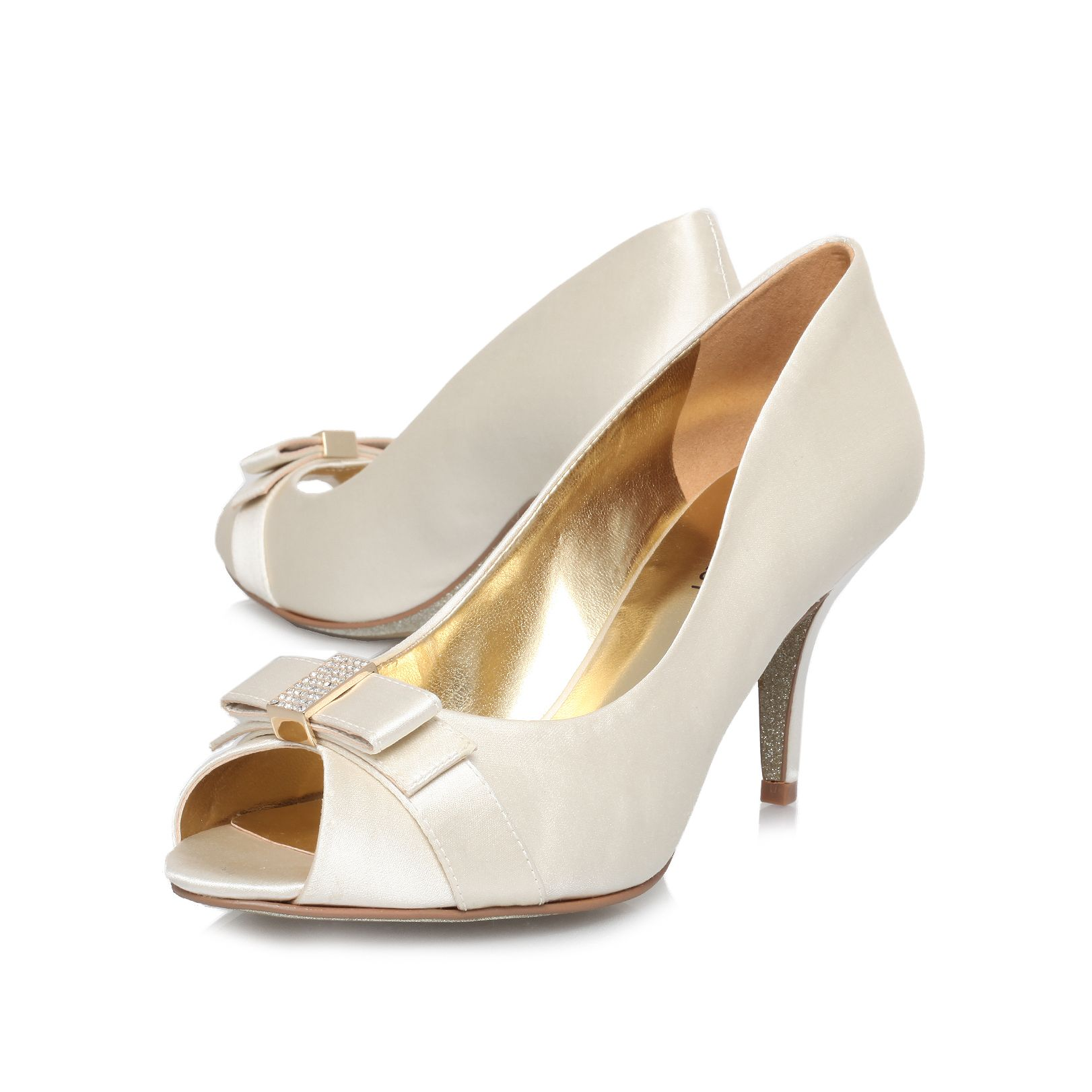 Olivia22 mid heeled court shoes