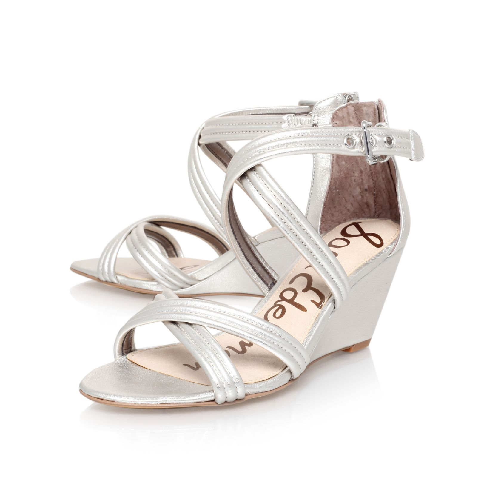 Sloane mid heeled wedge sandals