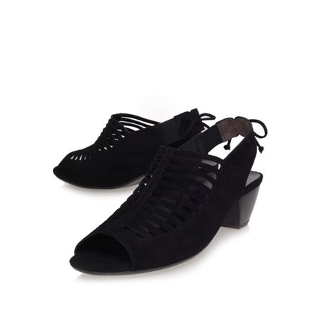 Camilla mid heel peep toe shoes