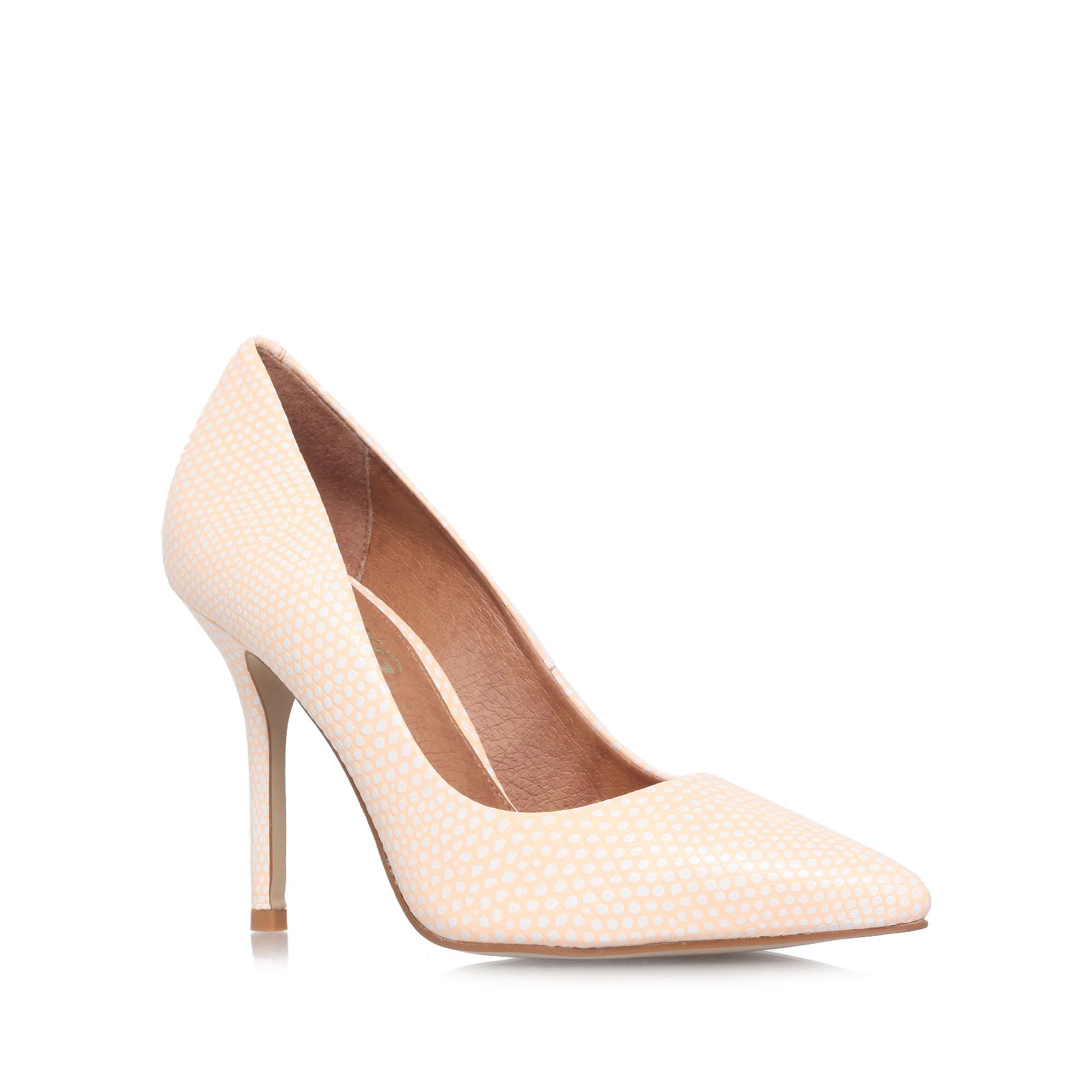 Anabela high heel court shoes
