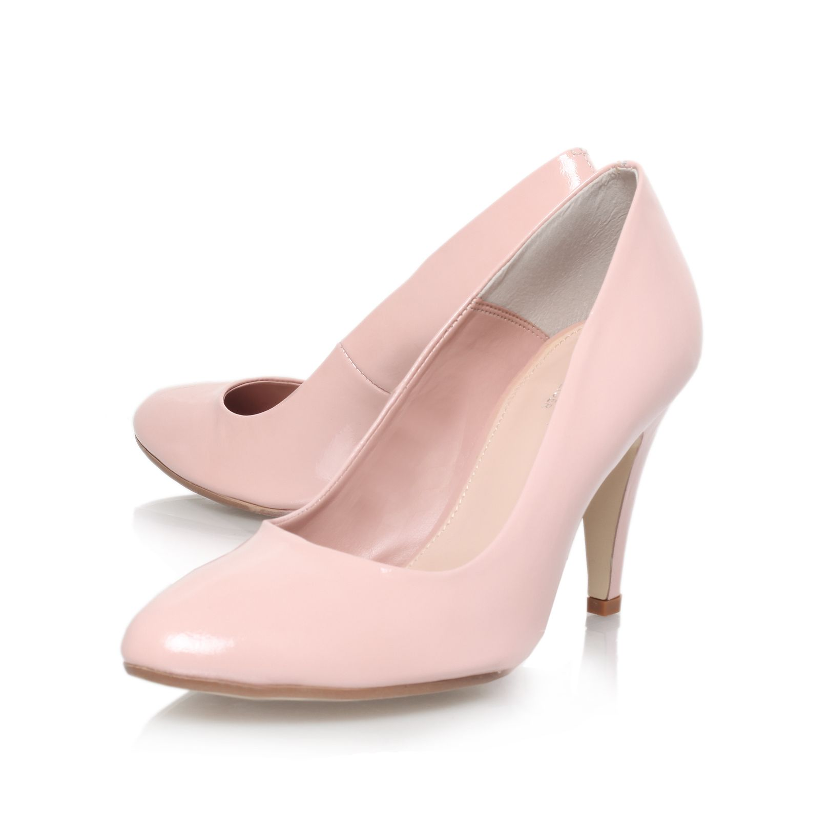 Acid high heel court shoes