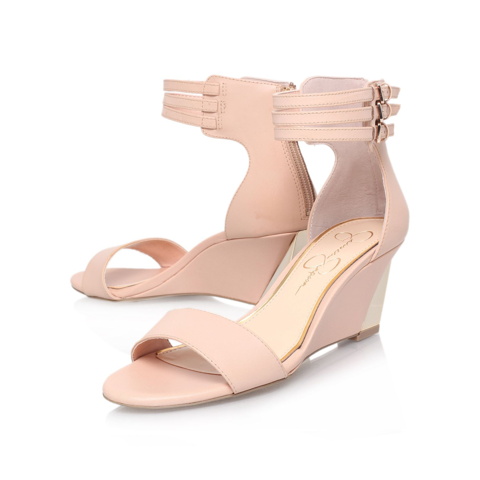 Habinaa mid heel wedge sandals