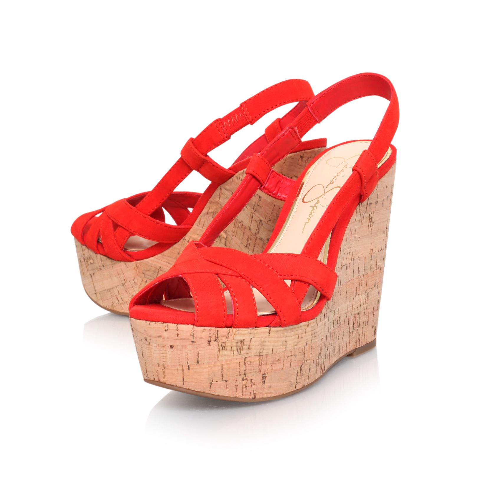 Westt high heel wedge sandals