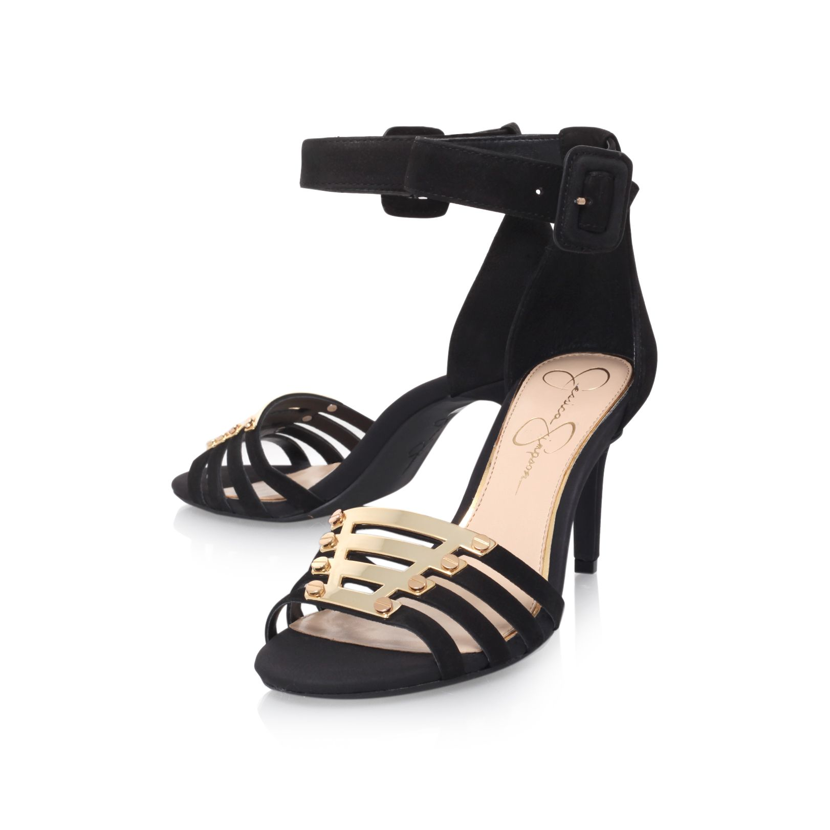 Massulo high heeled suer sandals