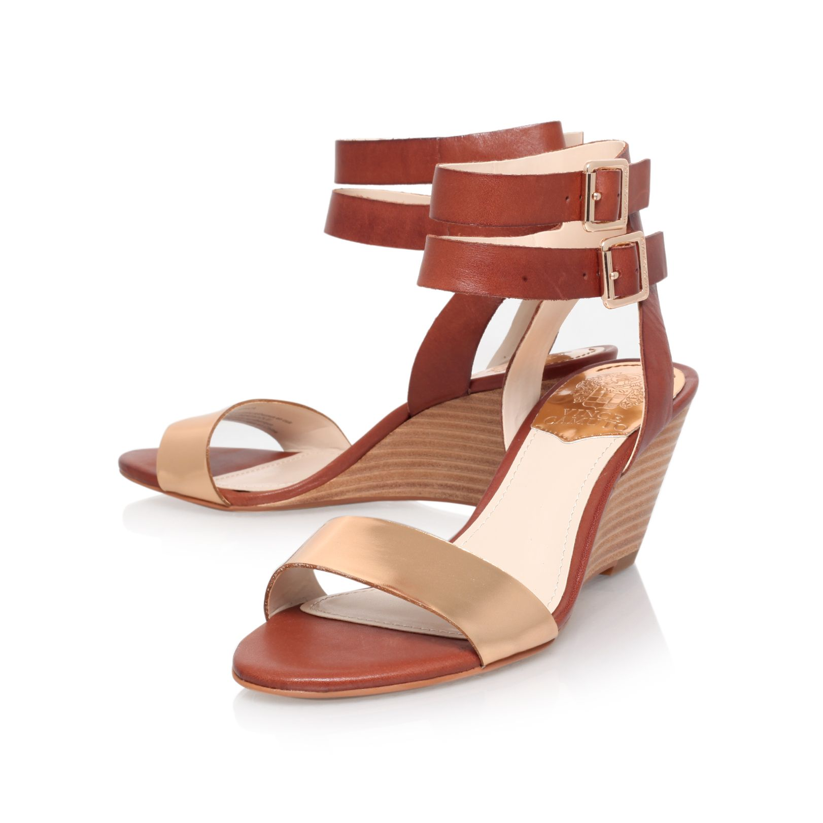 Winca mid heeled wedge sandals
