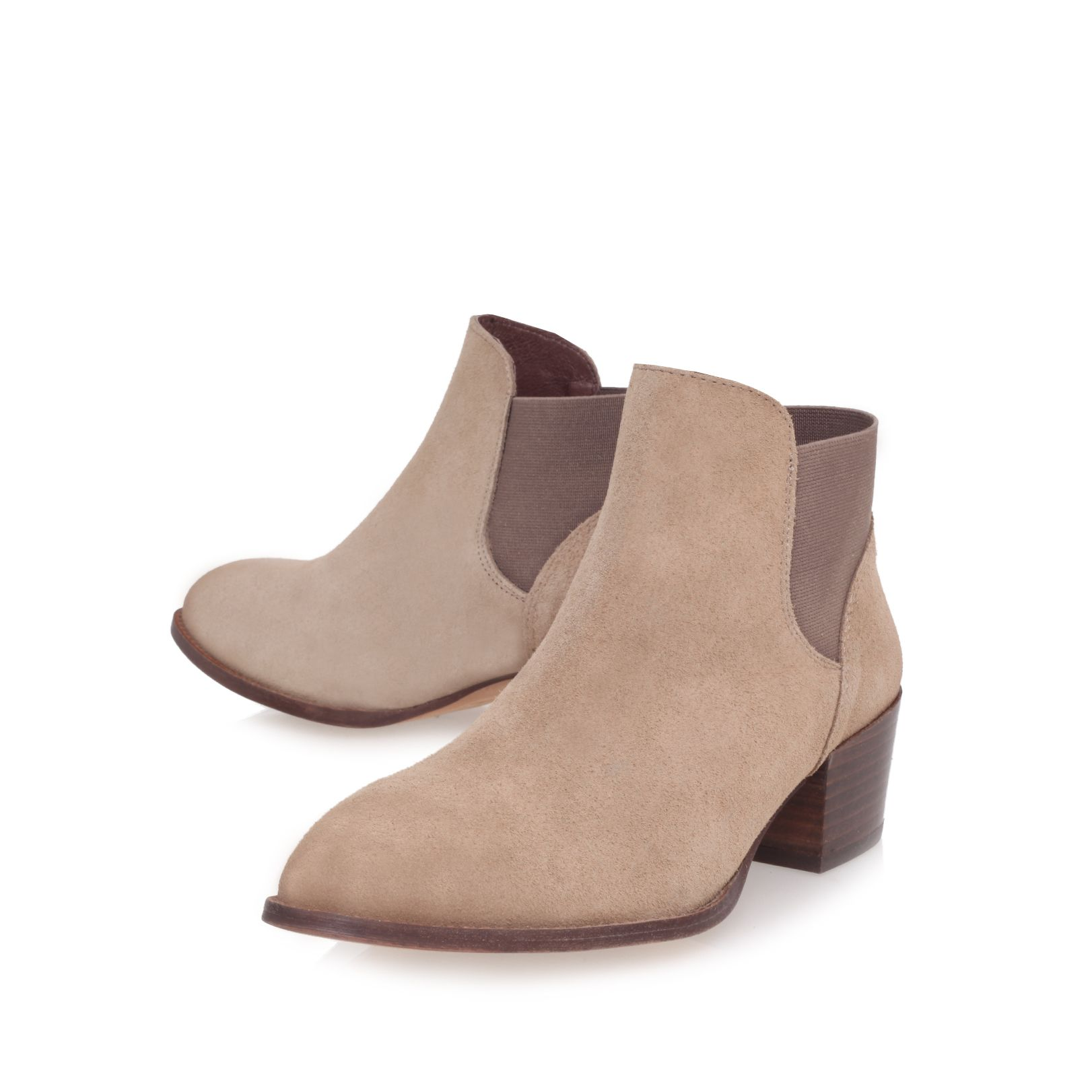 Sport mid heel ankle boots