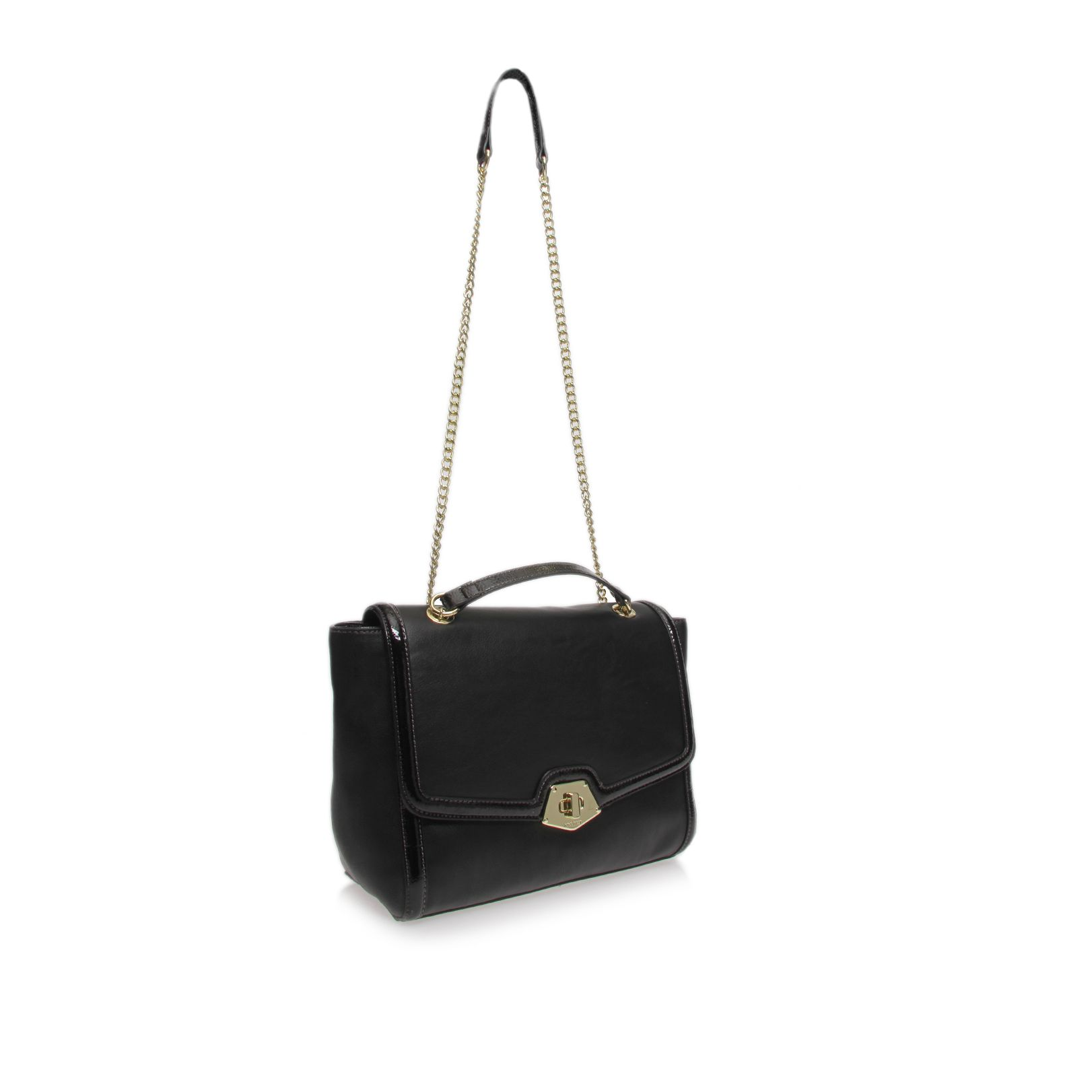 Tailored black handbag