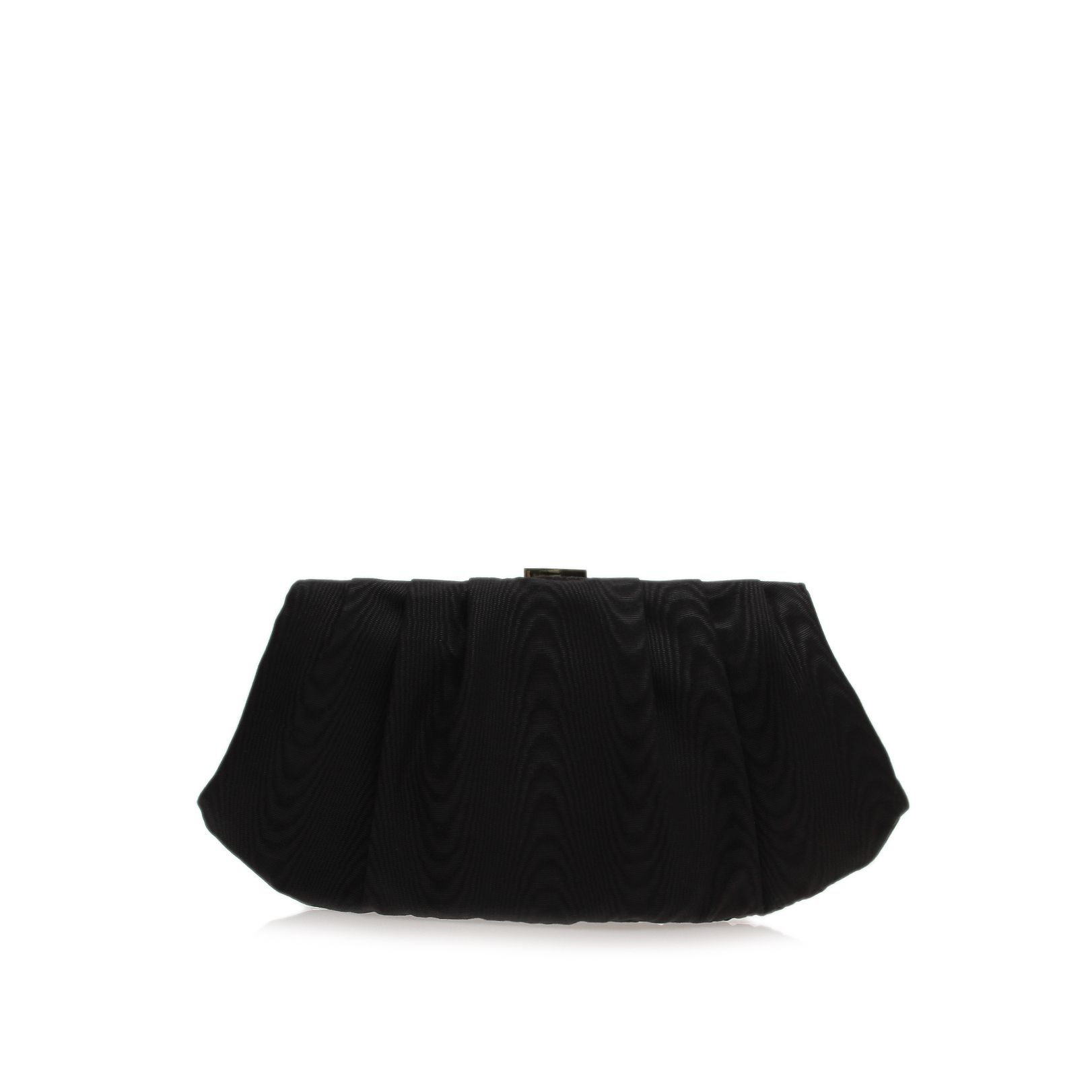 Bridal pleated black clutch