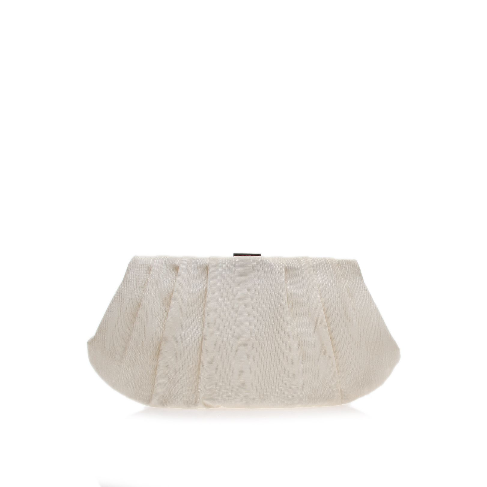 Bridal pleated champagne clutch