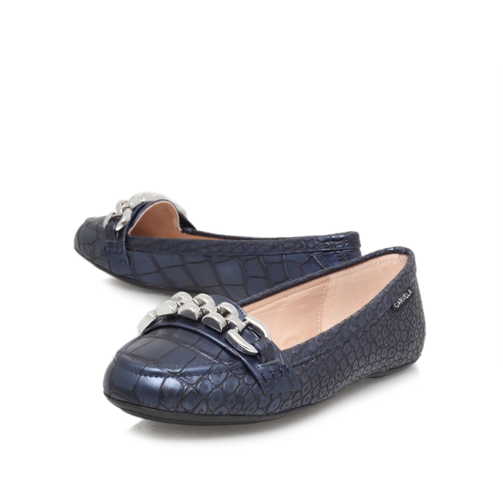 Liberate flat court shoes