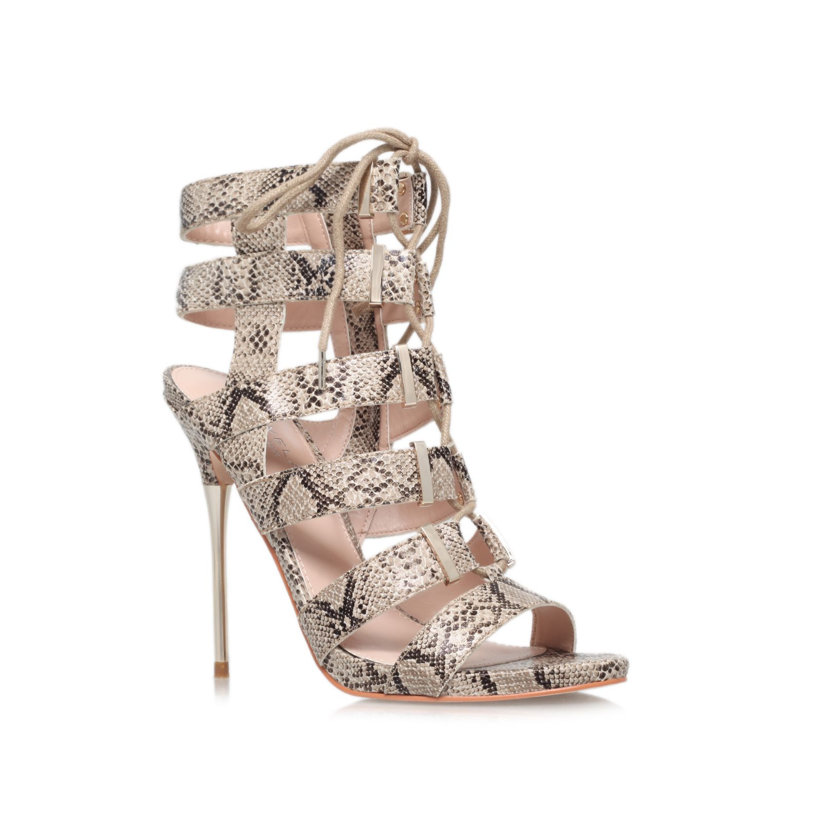 Gladiator high heel occasion shoes