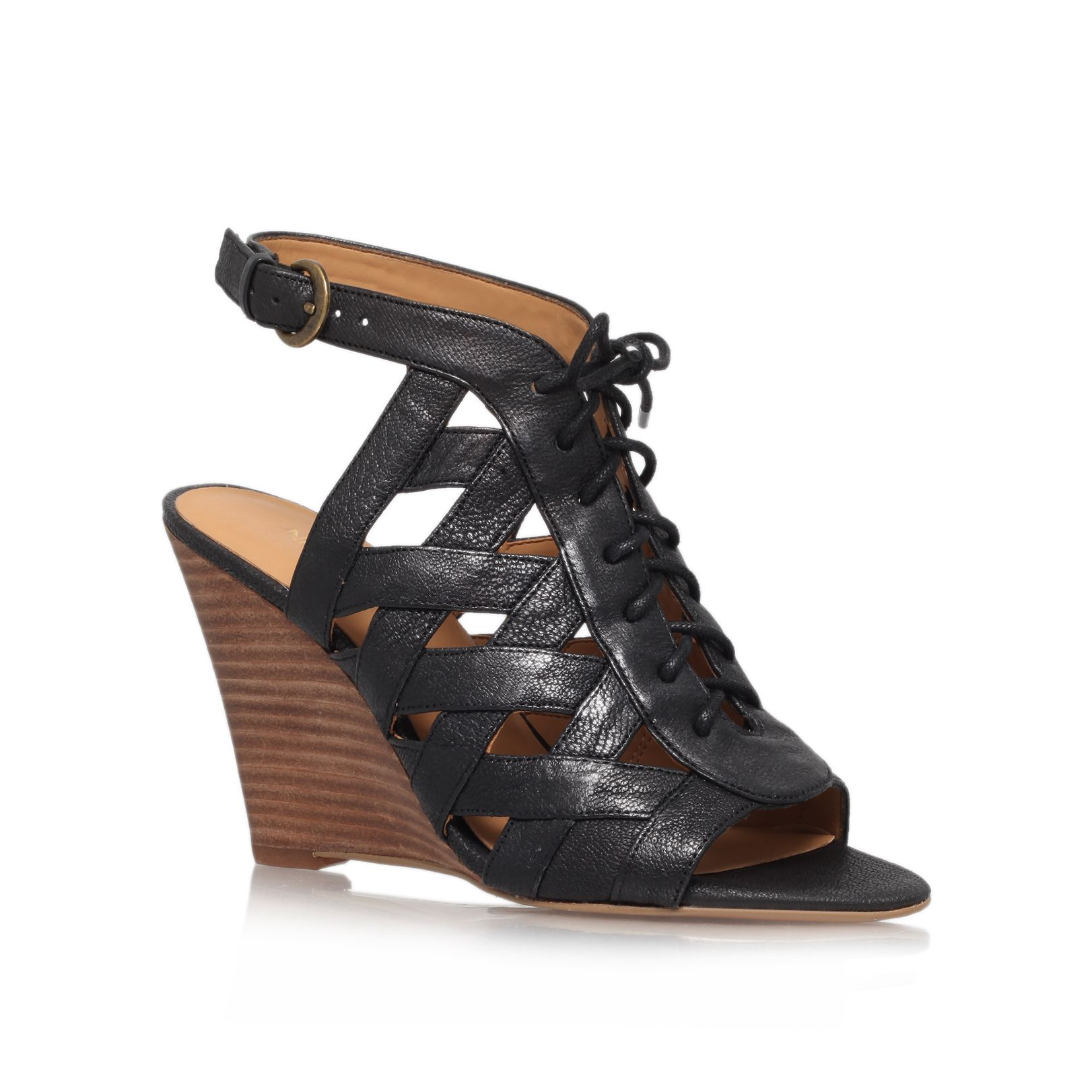 Maxamilian high heel wedge sandals