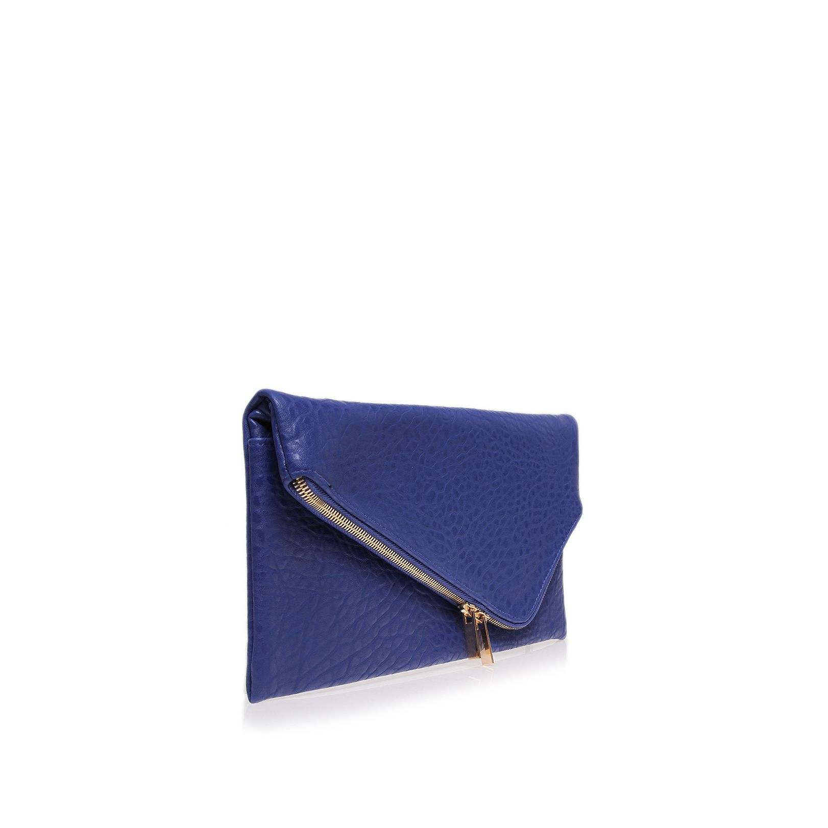 Tiger blue clutch bag