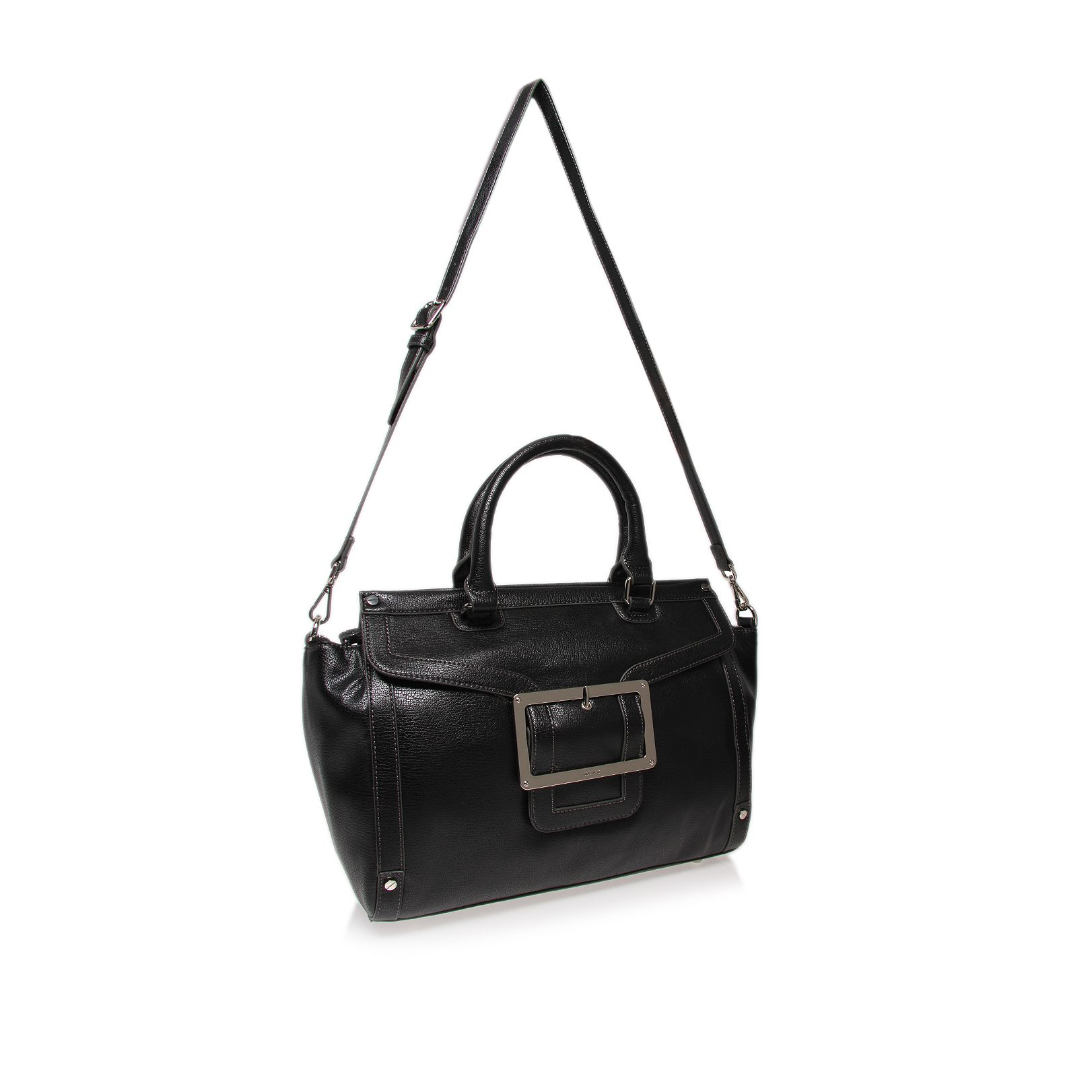 Framedin black satchel