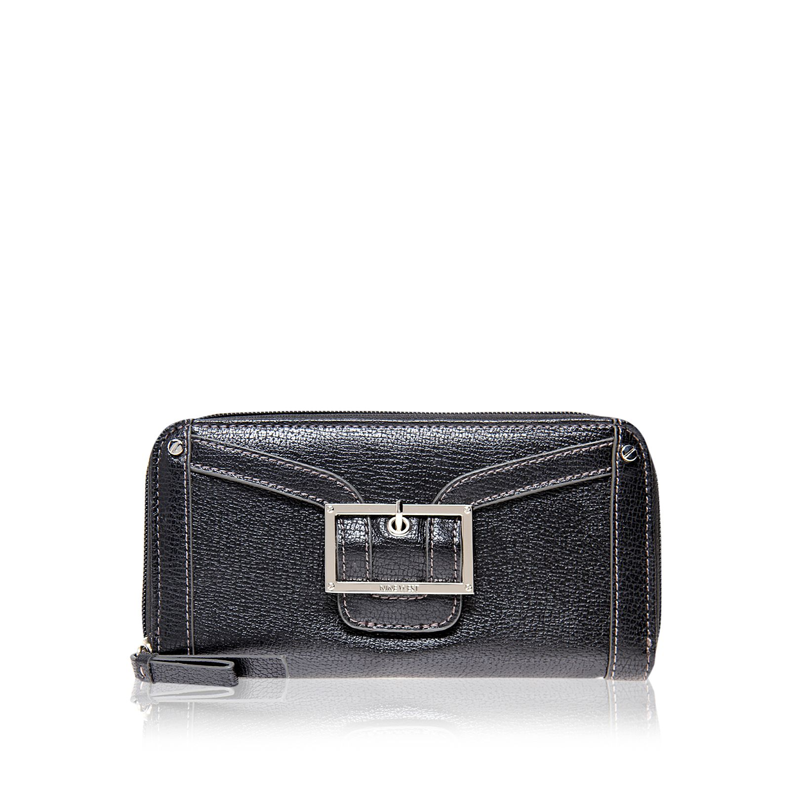 Framedin slf zip black purse